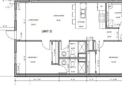 Unit floorplan at the Scott Residence apartment complex